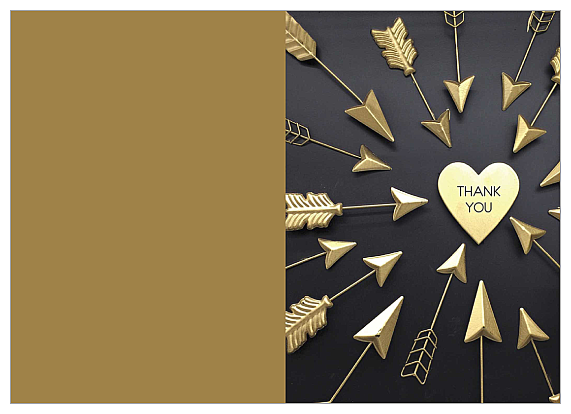 Arrow Thanks front - Greeting Cards Maker