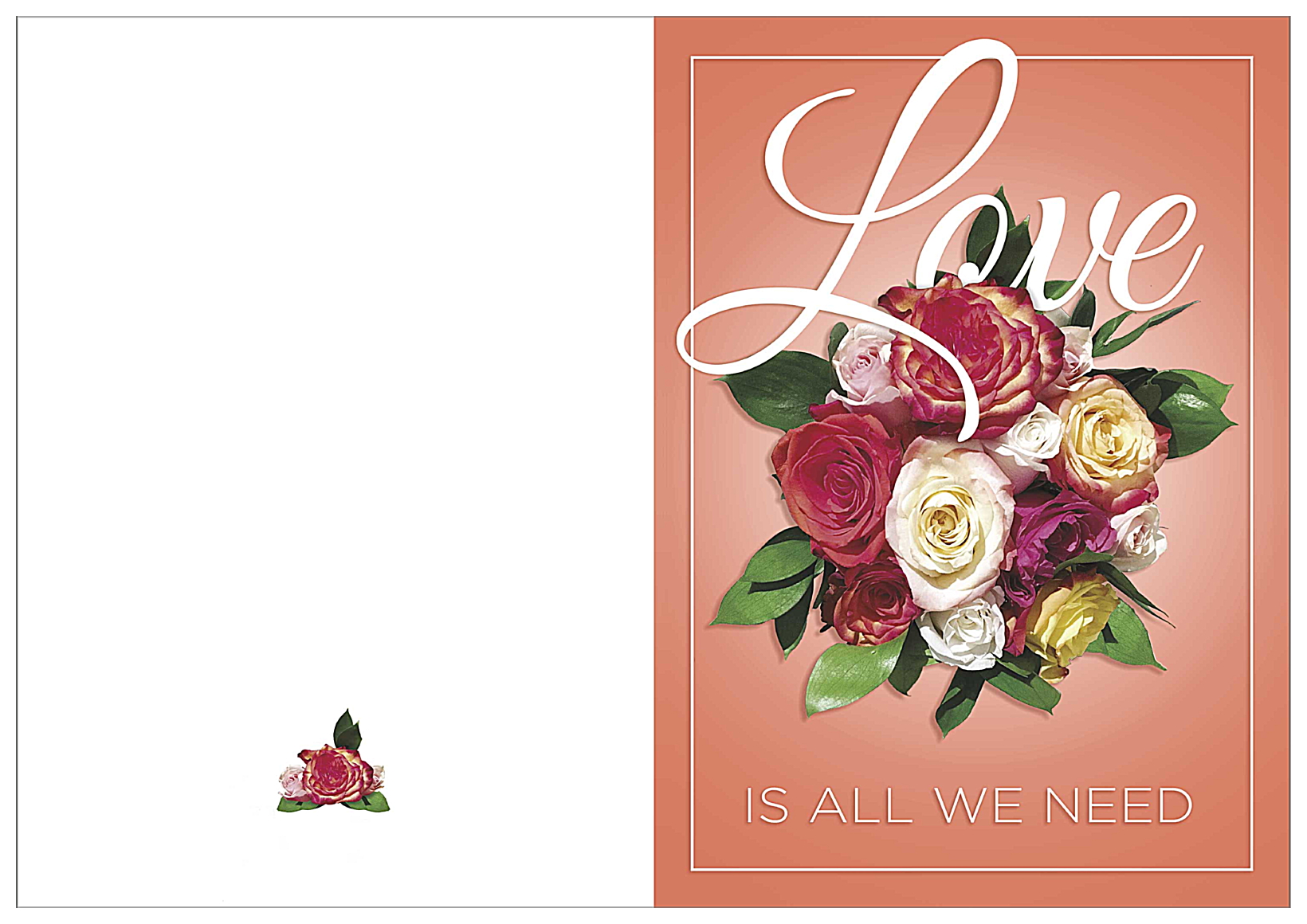 Love Is All We Need front - Greeting Cards Maker