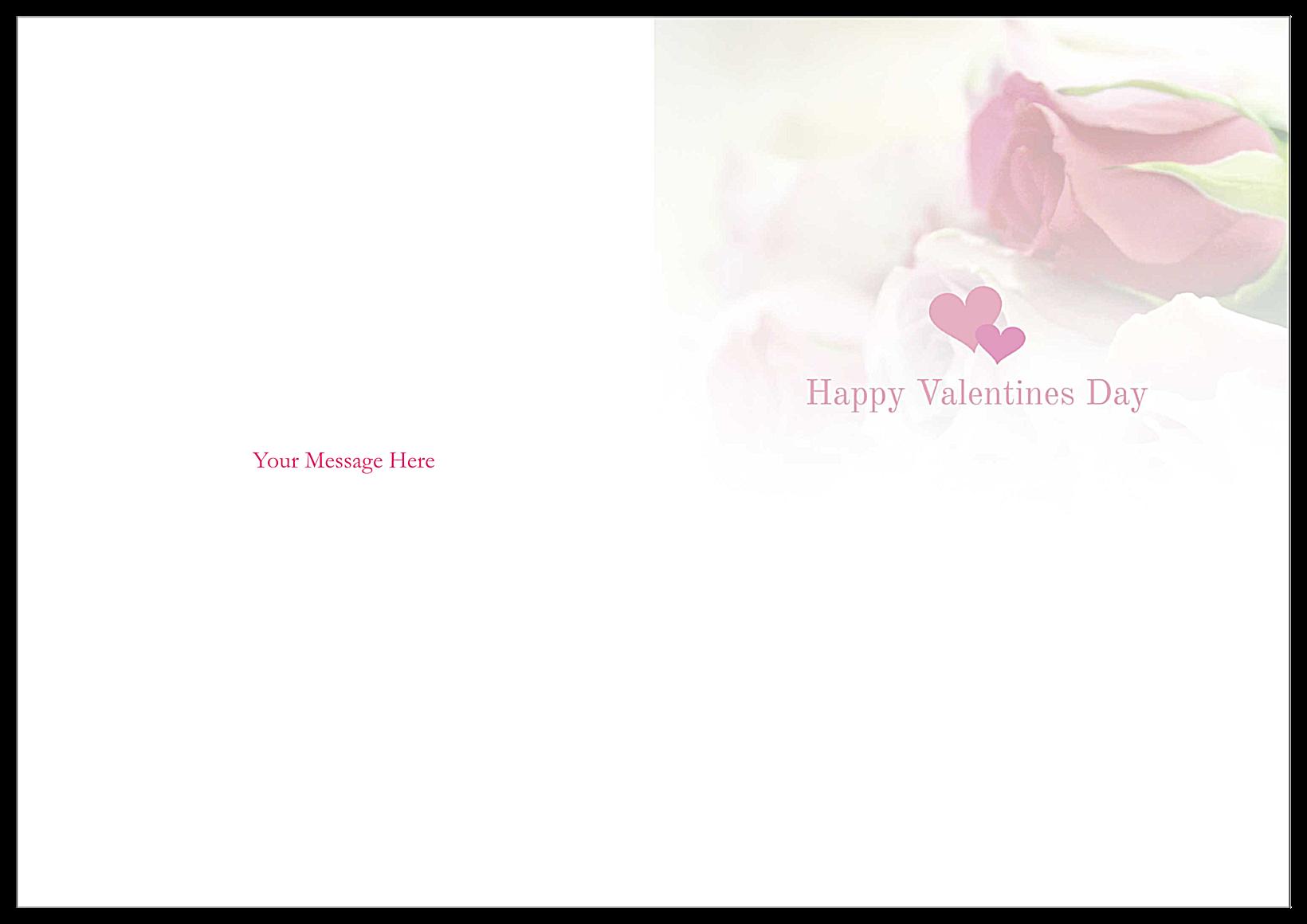 Valentine Roses back - Greeting Cards Maker