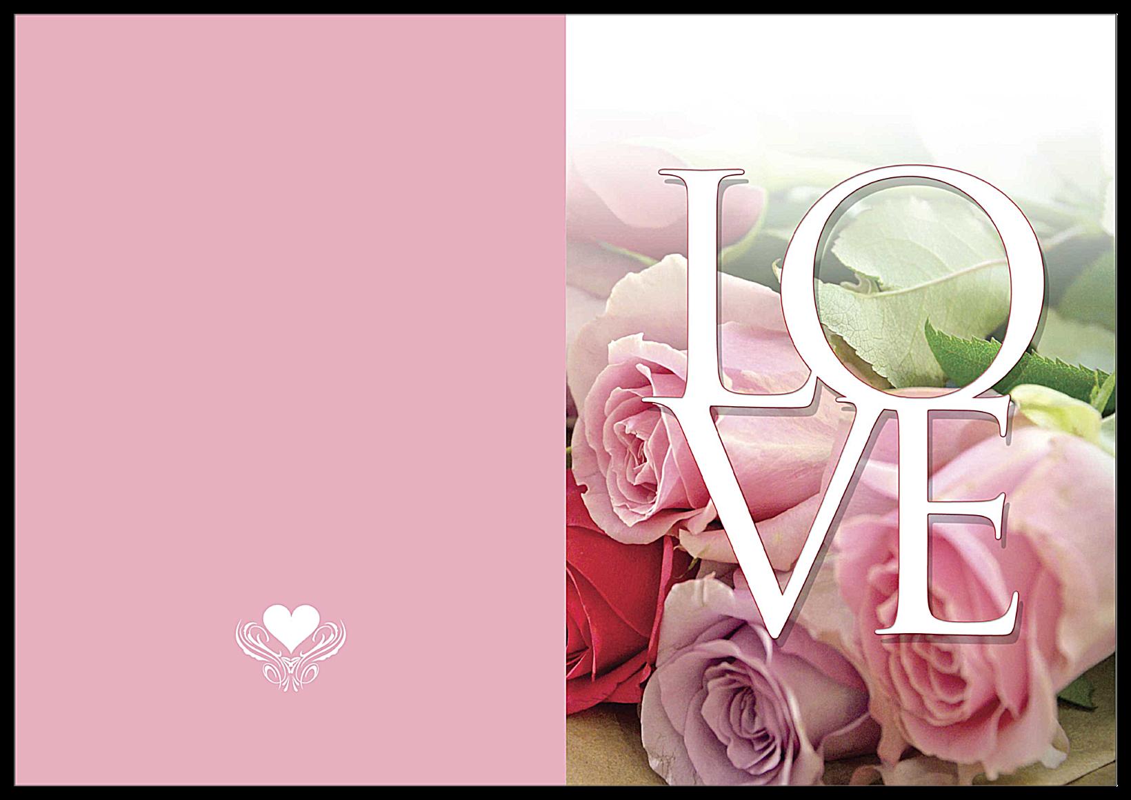 Valentine Roses front - Greeting Cards Maker