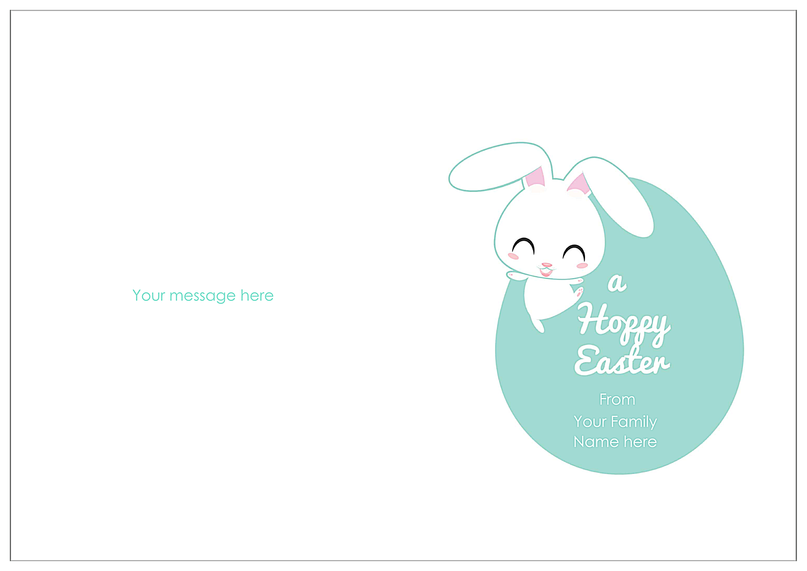 Hoppy Easter back - Greeting Cards Maker