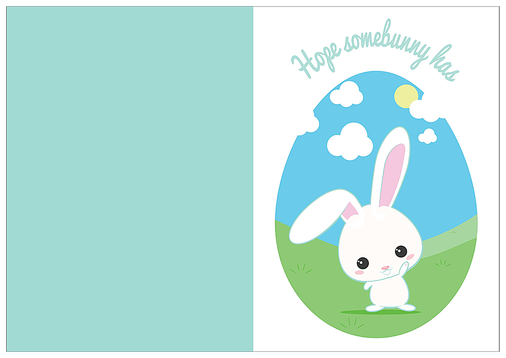 Hoppy Easter front - Greeting Cards Maker