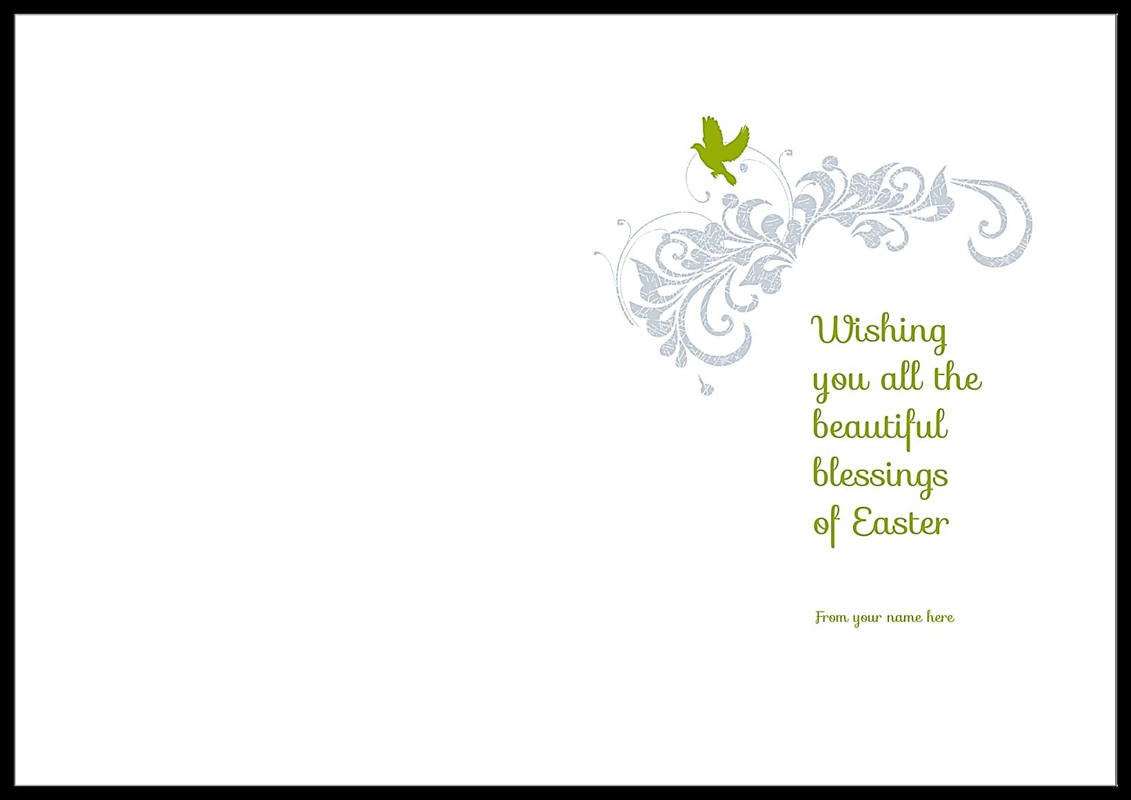 Easter Rabbit back - Greeting Cards Maker