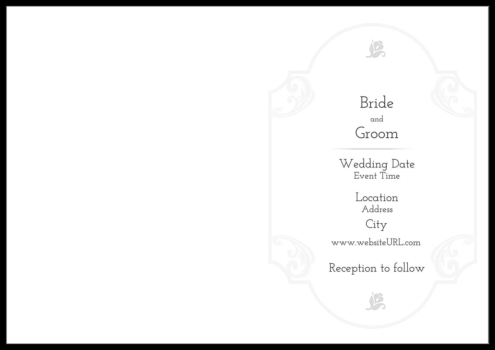 Floral Wedding back - Greeting Cards Maker