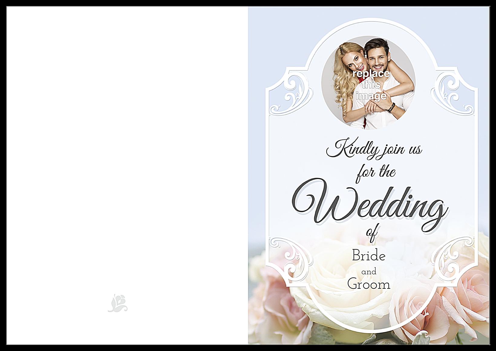 Floral Wedding front - Greeting Cards Maker