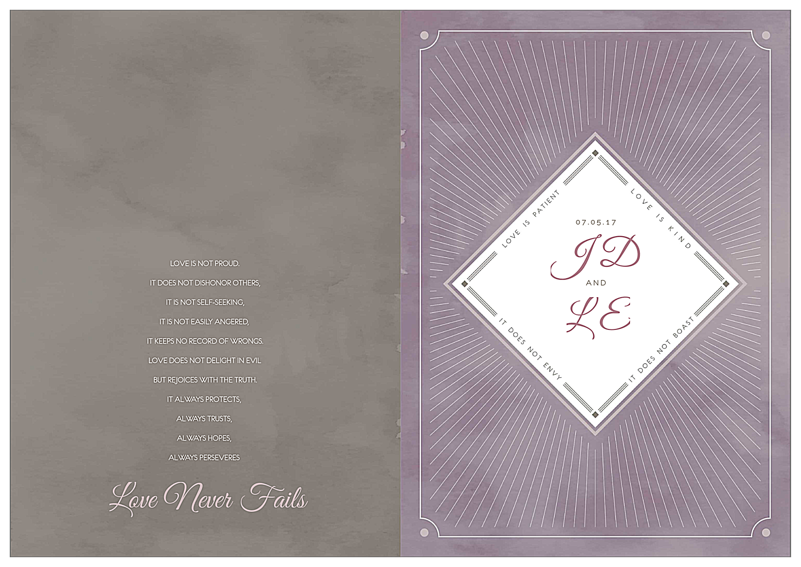 Love is Radiant front - Greeting Cards Maker