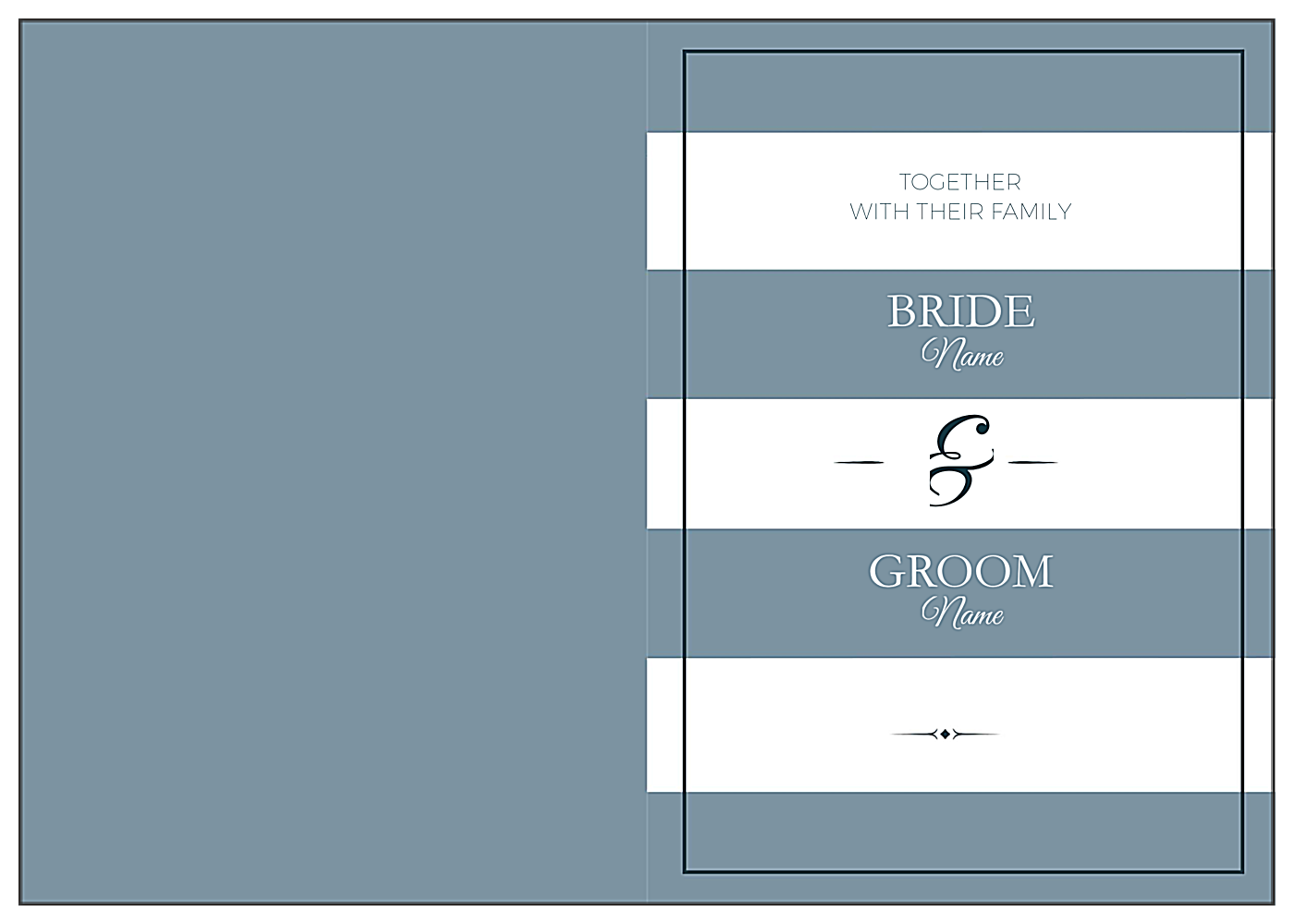 Wedding Stripes front - Greeting Cards Maker