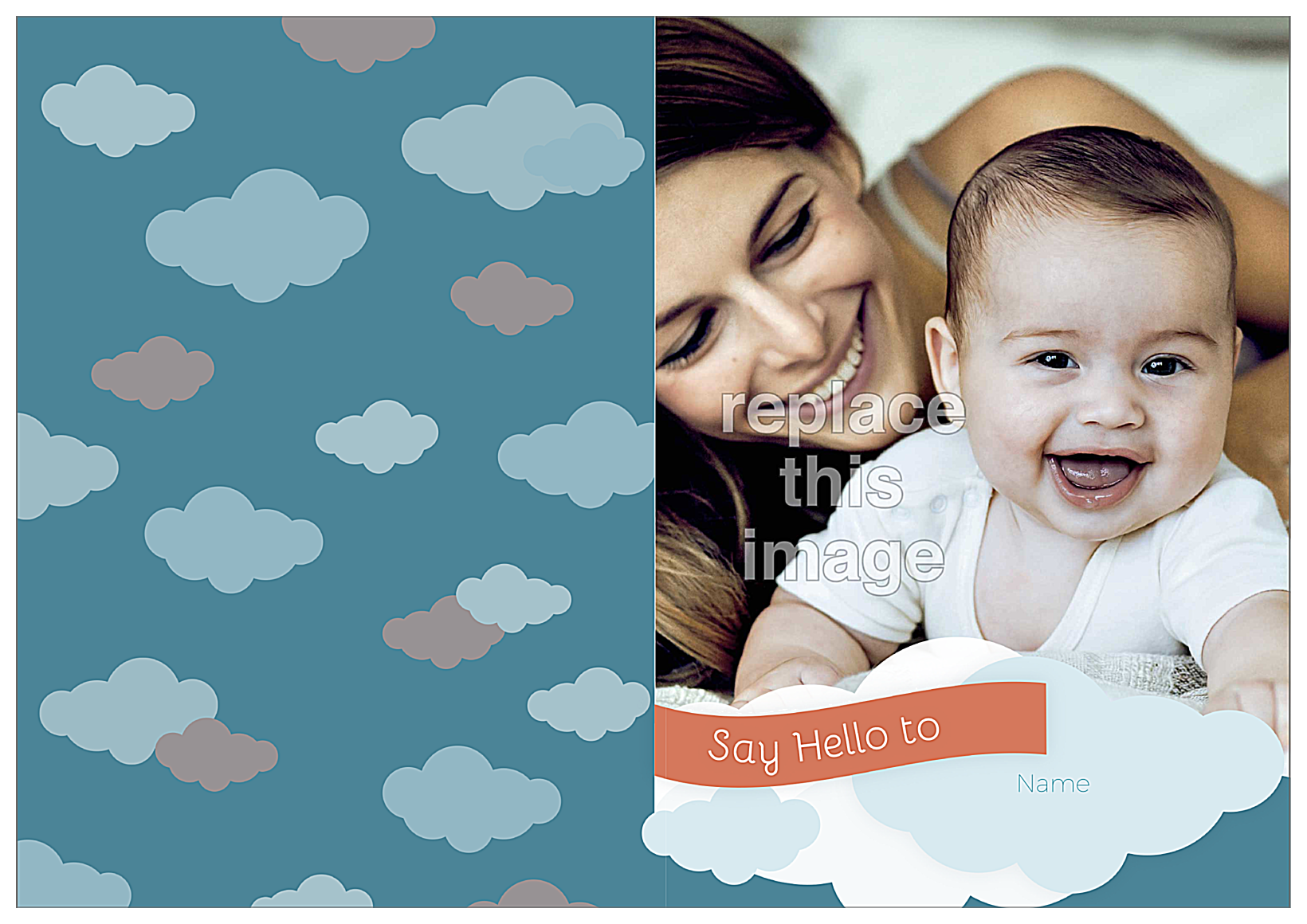 Baby Clouds front - Greeting Cards Maker