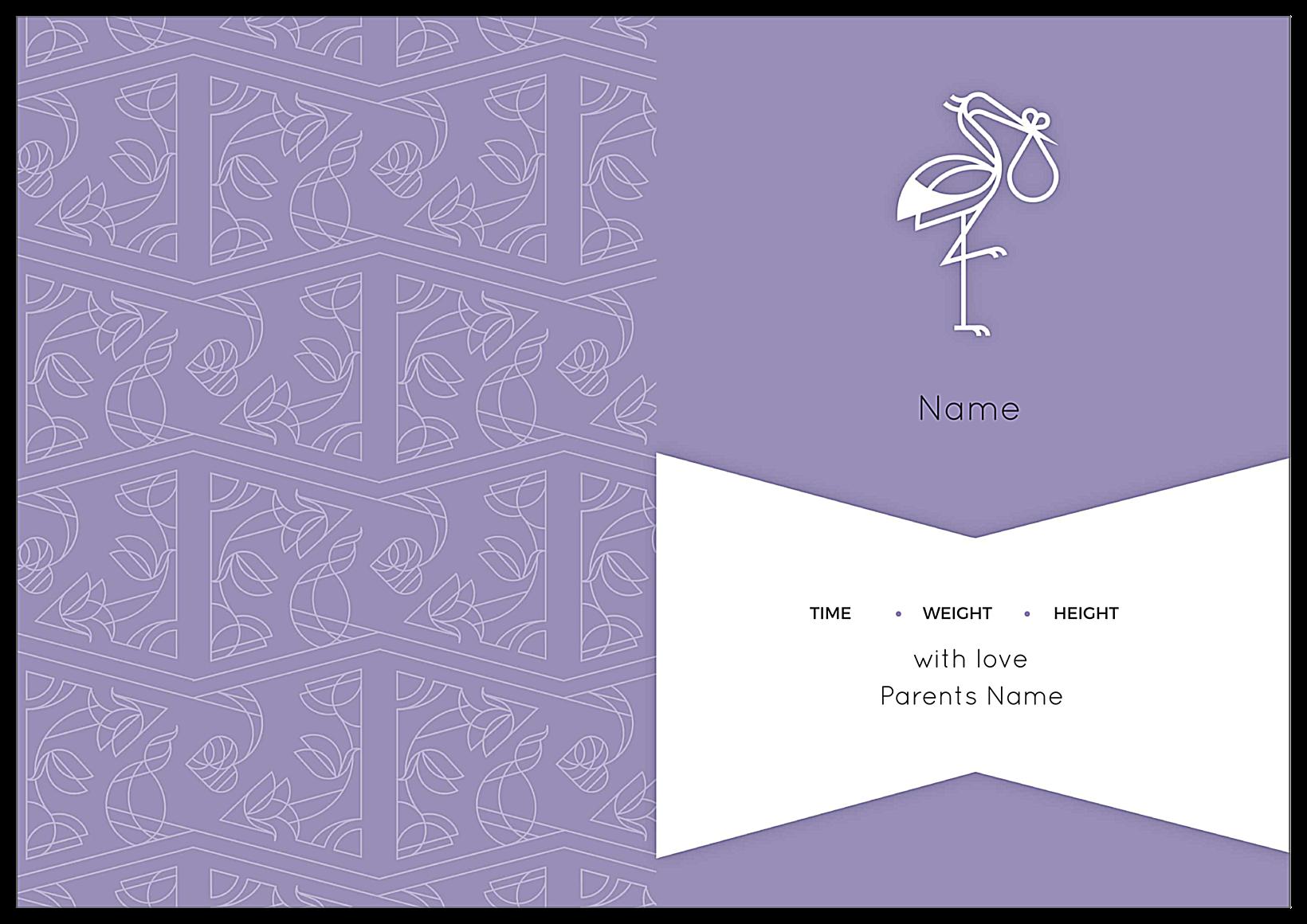 Say Hello Stork back - Greeting Cards Maker