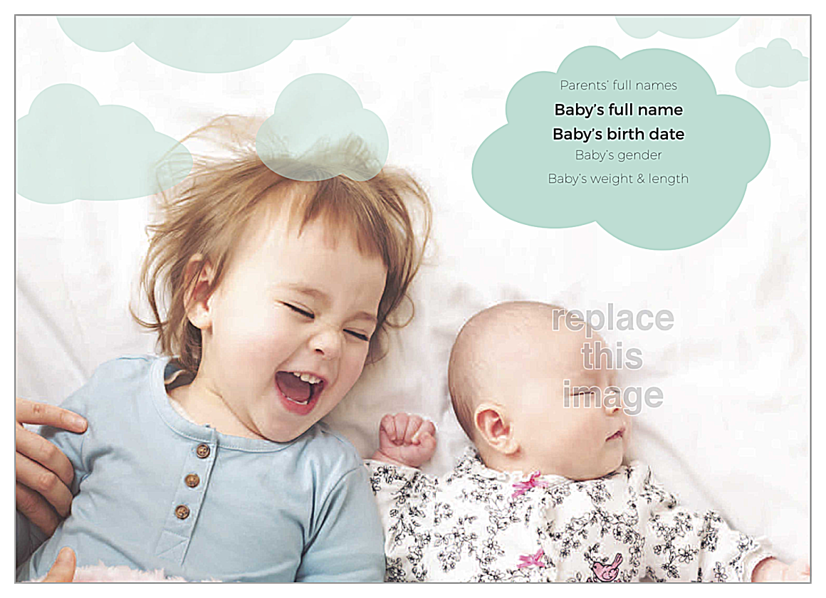 Raindrops Baby back - Greeting Cards Maker