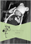 Say Hello Stork - greeting-cards Maker