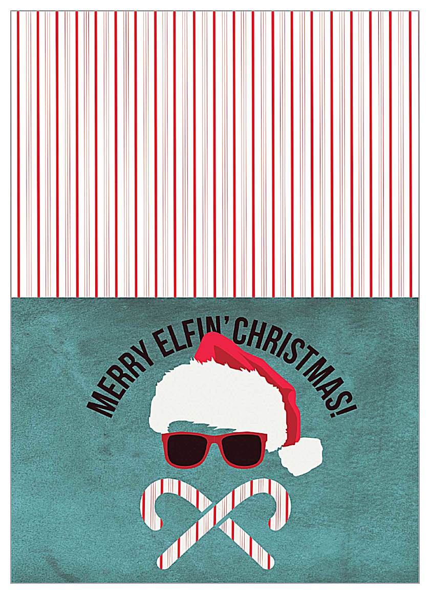 Merry Elfin' Christmas front - Greeting Cards Maker