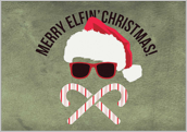 Merry Elfin Christmas - greeting-cards Maker