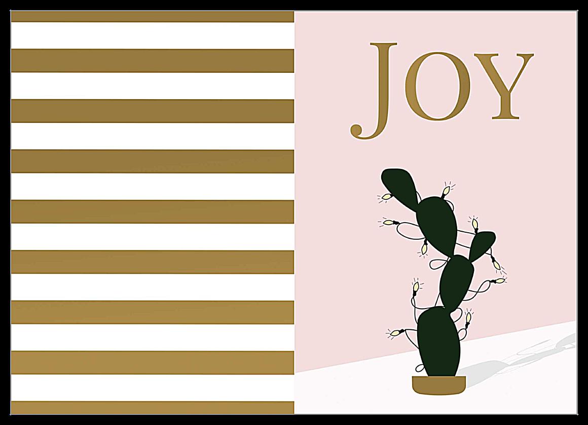 Joyful Christmas Cactus front - Greeting Cards Maker