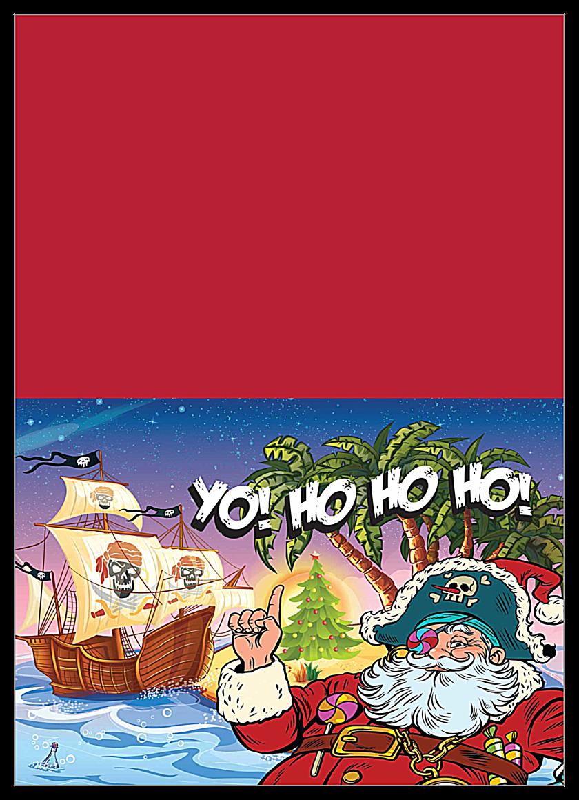 Santa Yo front - Greeting Cards Maker