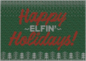 Happy Elfin Holidays - greeting-cards Maker
