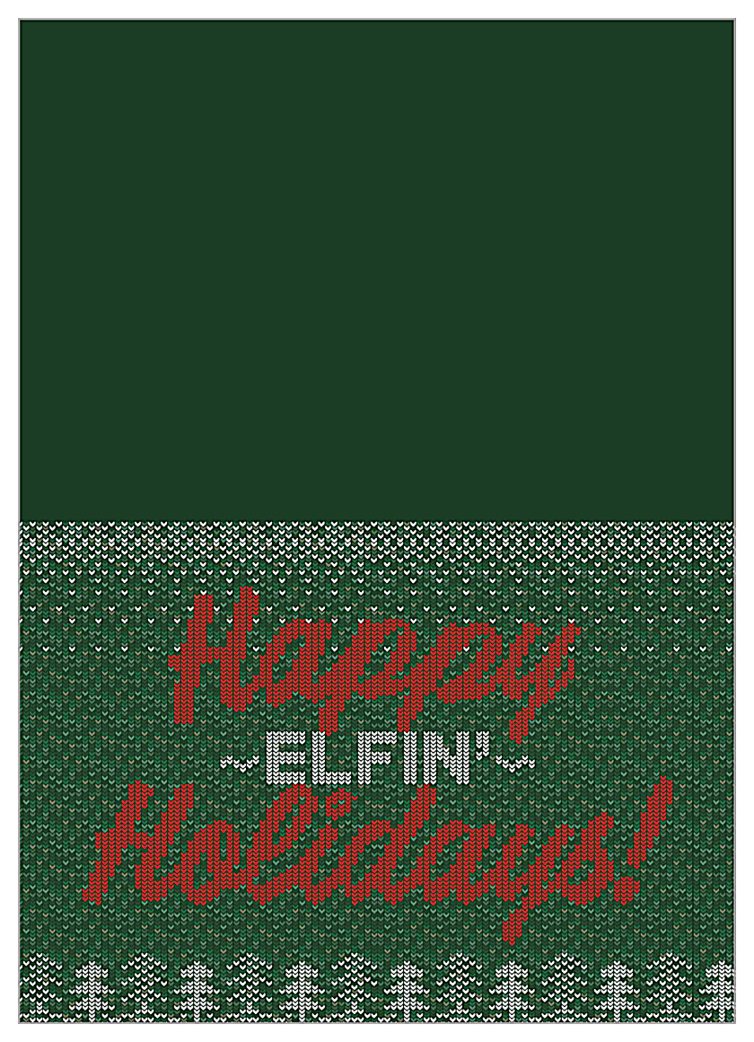 Happy Elfin' Holidays front - Greeting Cards Maker