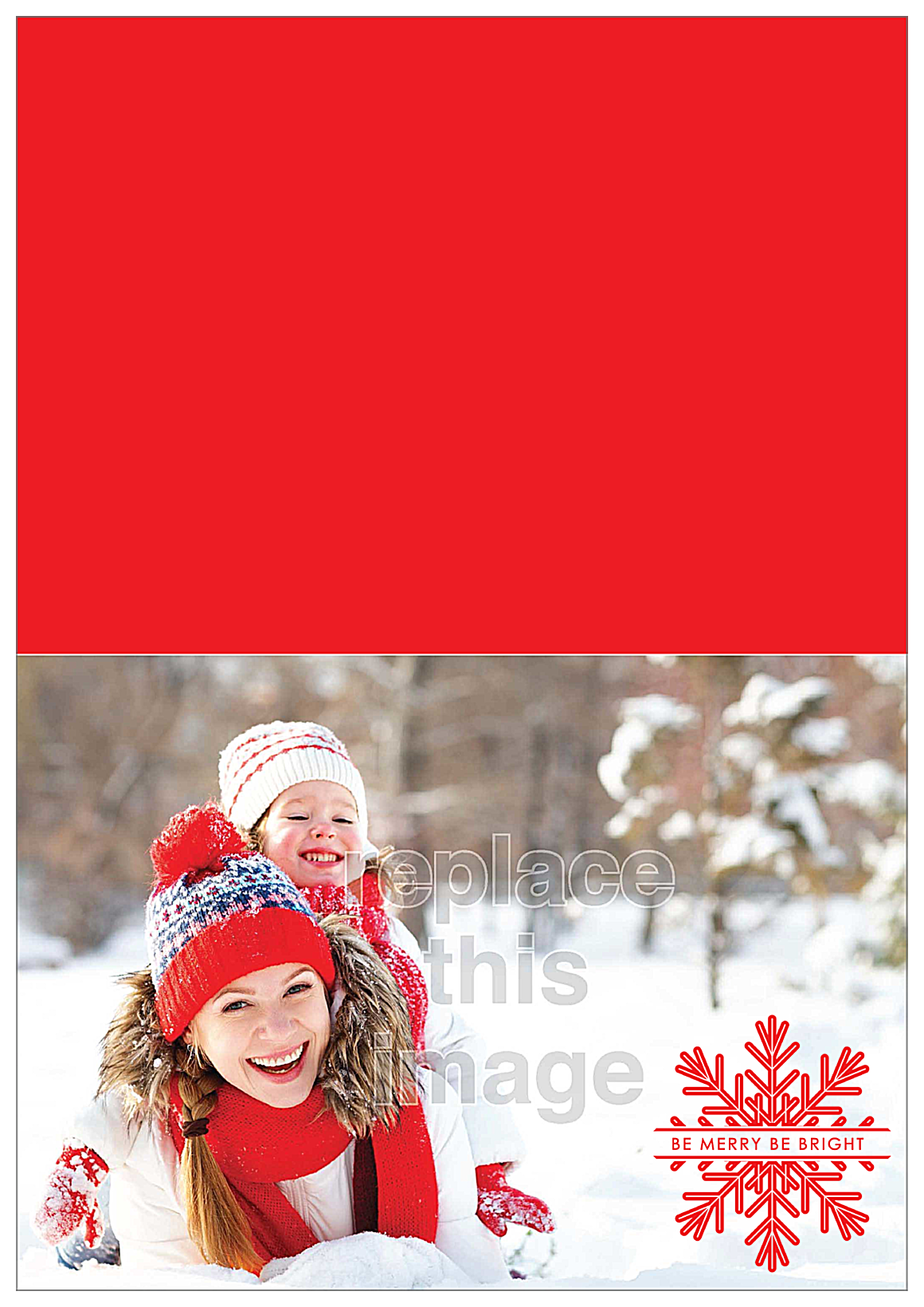 Snow Fun front - Greeting Cards Maker