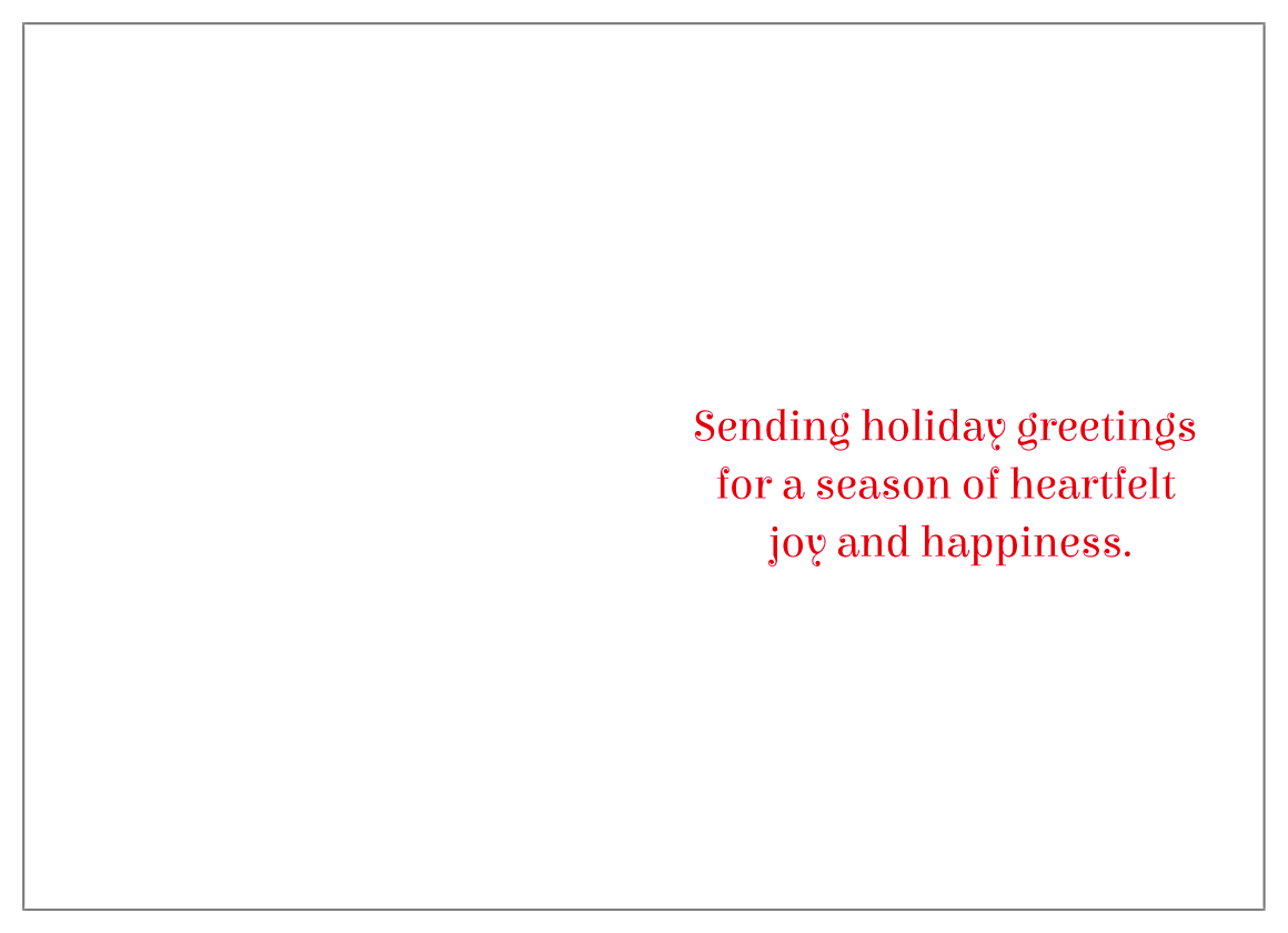 Holiday Friends back - Greeting Cards Maker