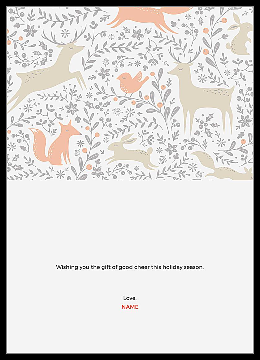 Holiday Deer back - Greeting Cards Maker