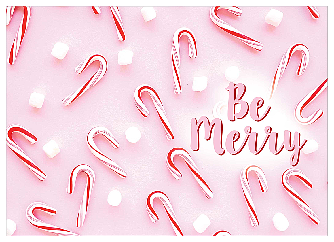 Merry Peppermint front - Greeting Cards Maker