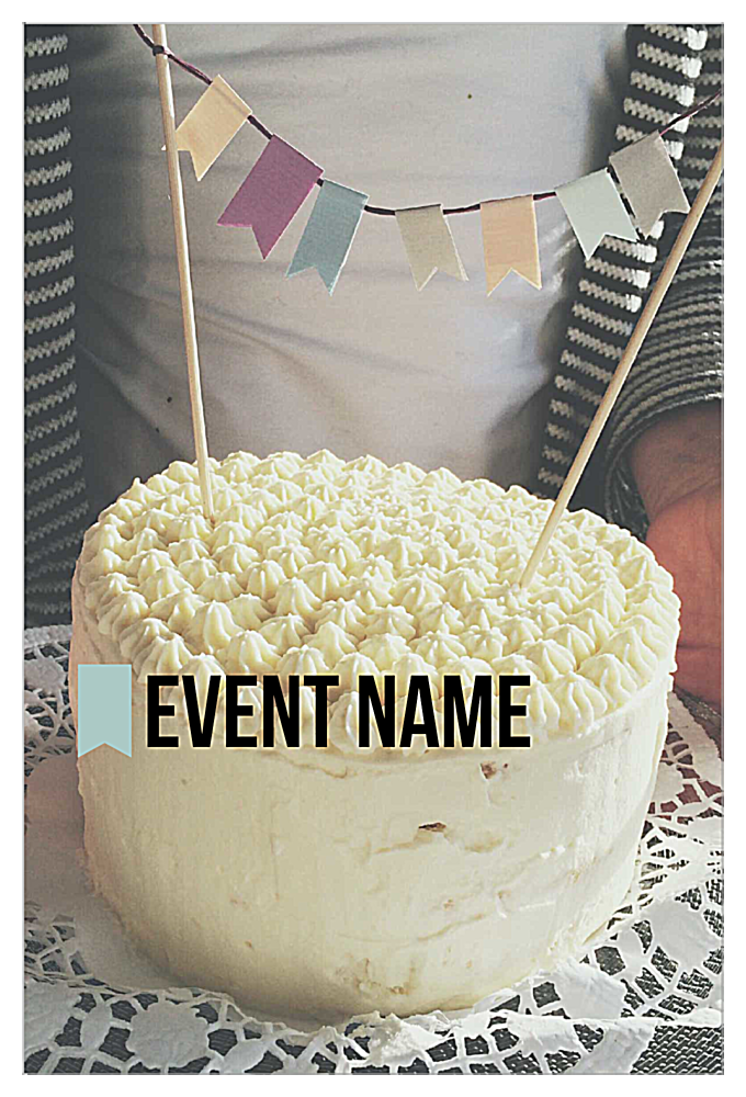 Easy-To-Use Piece of Cake Invitation Card Design Template front - Invitation Cards Maker