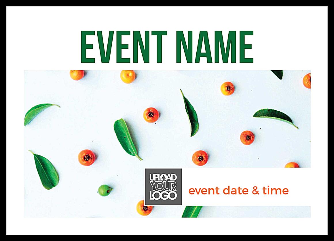 Fruit Leaves front - Invitation Cards Maker