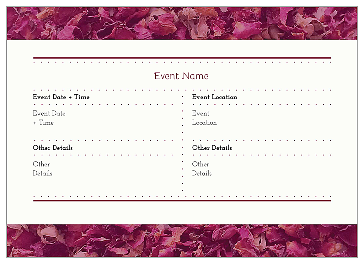 Easy-To-Use Potpourri Heart Invitation Card Design Template back - Invitation Cards Maker