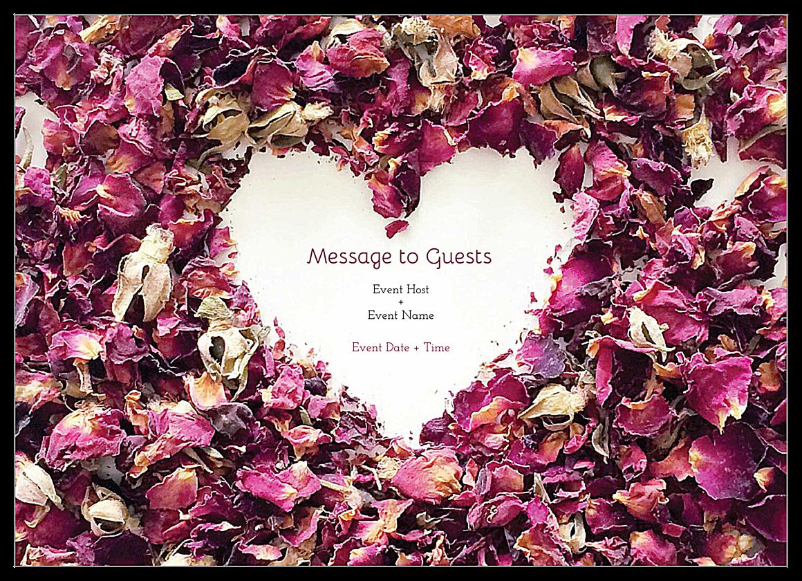 Easy-To-Use Potpourri Heart Invitation Card Design Template front - Invitation Cards Maker