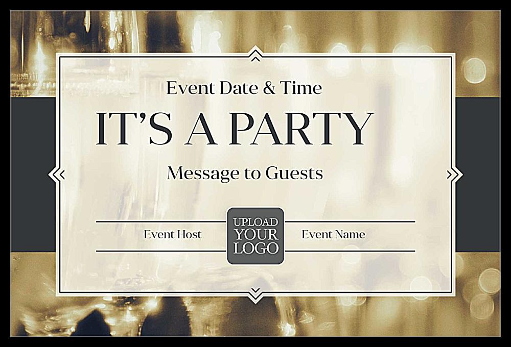 Pop Champagne front - Invitation Cards Maker