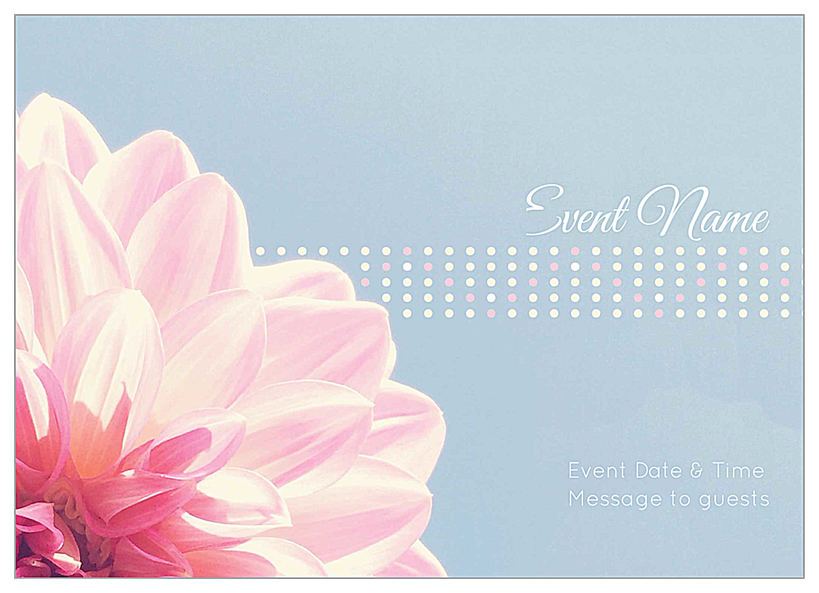 Easy-To-Personalize Flower Dots Invitation Card Templates front - Invitation Cards Maker