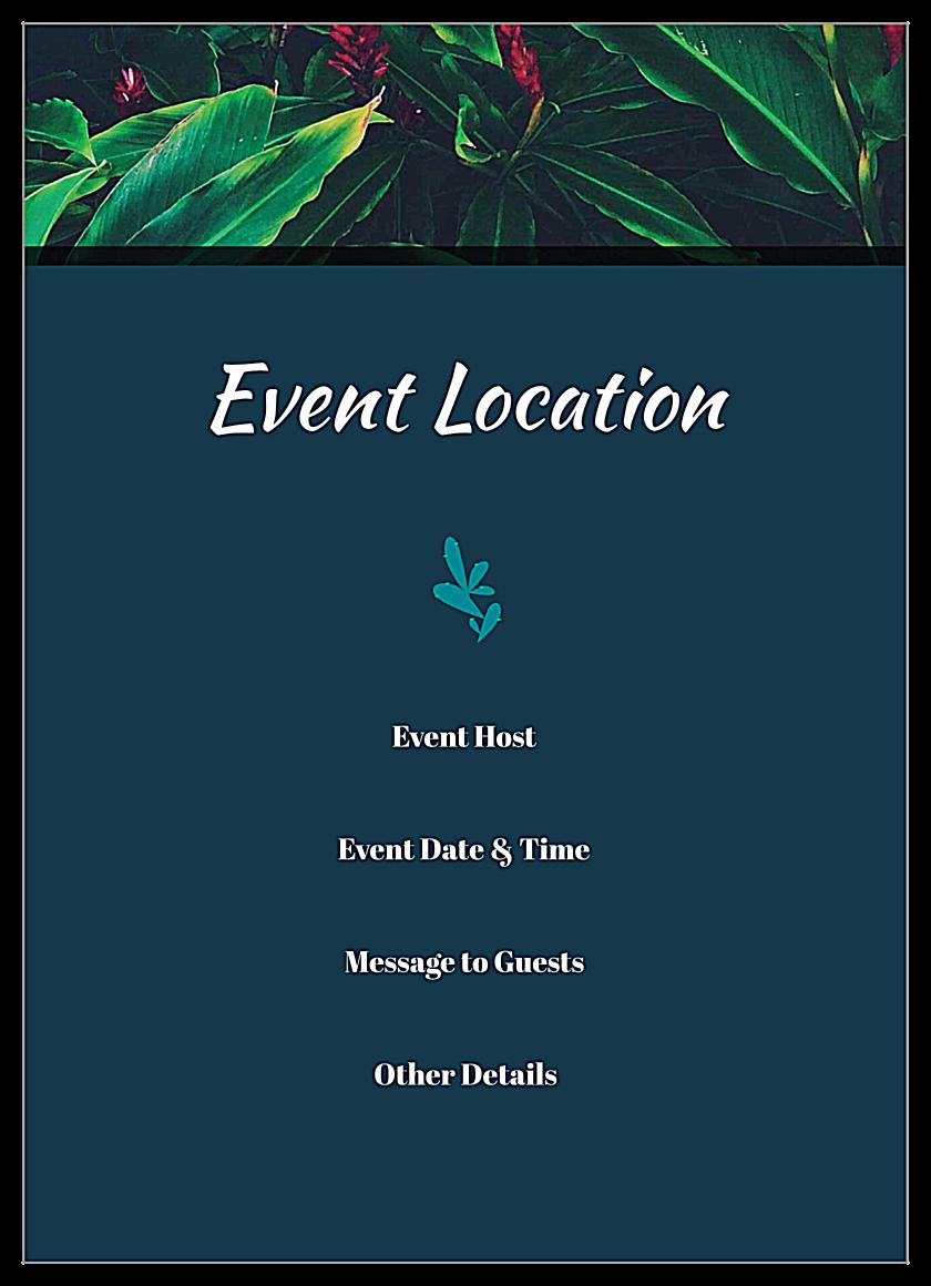 Tropical Event back - Invitation Cards Maker
