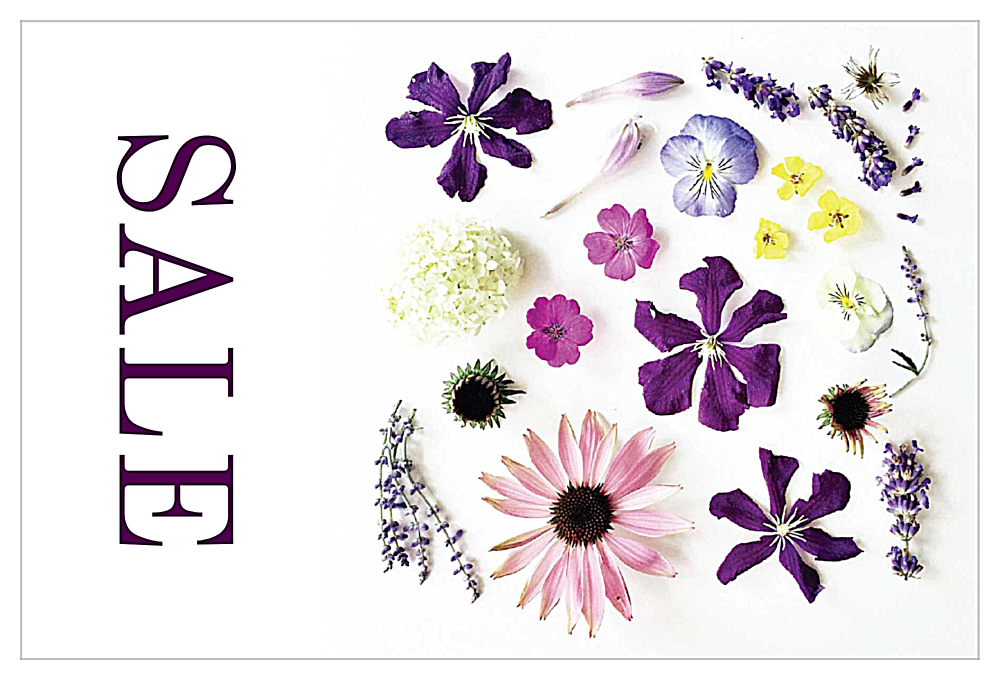 Look at the Flowers front - Invitation Cards Maker
