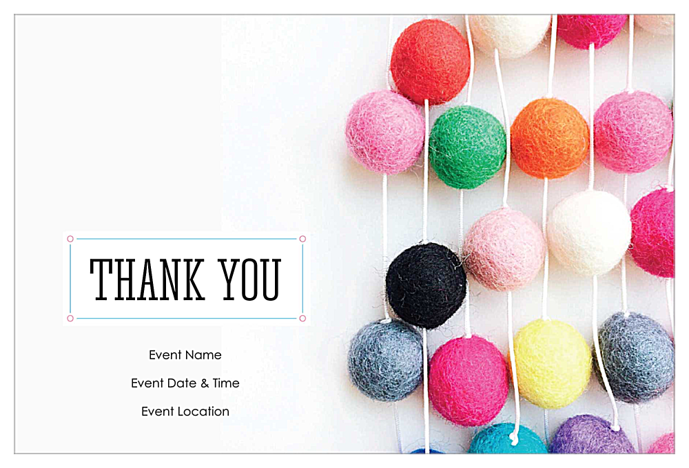 Thank You Party front - Invitation Cards Maker