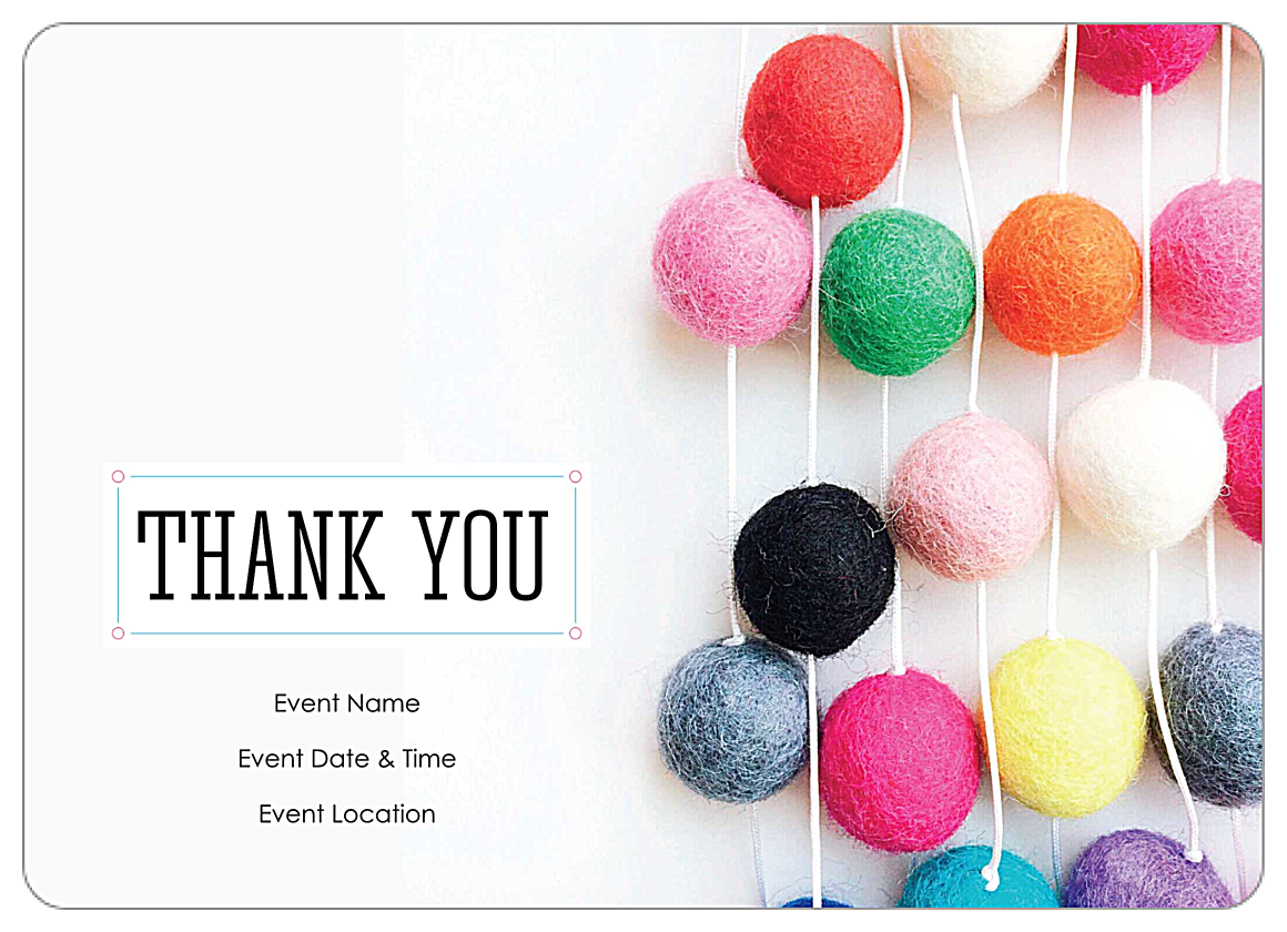 Free Thank You Party Customizable Invitation Card Templates front - Invitation Cards Maker