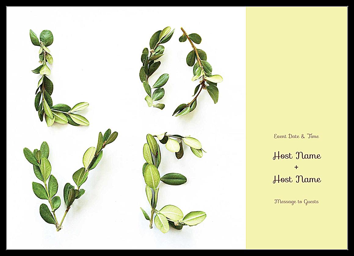 Free Lovely Laurel Invitation Card Design Template front - Invitation Cards Maker