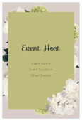 White Flowers - invitation-cards Maker