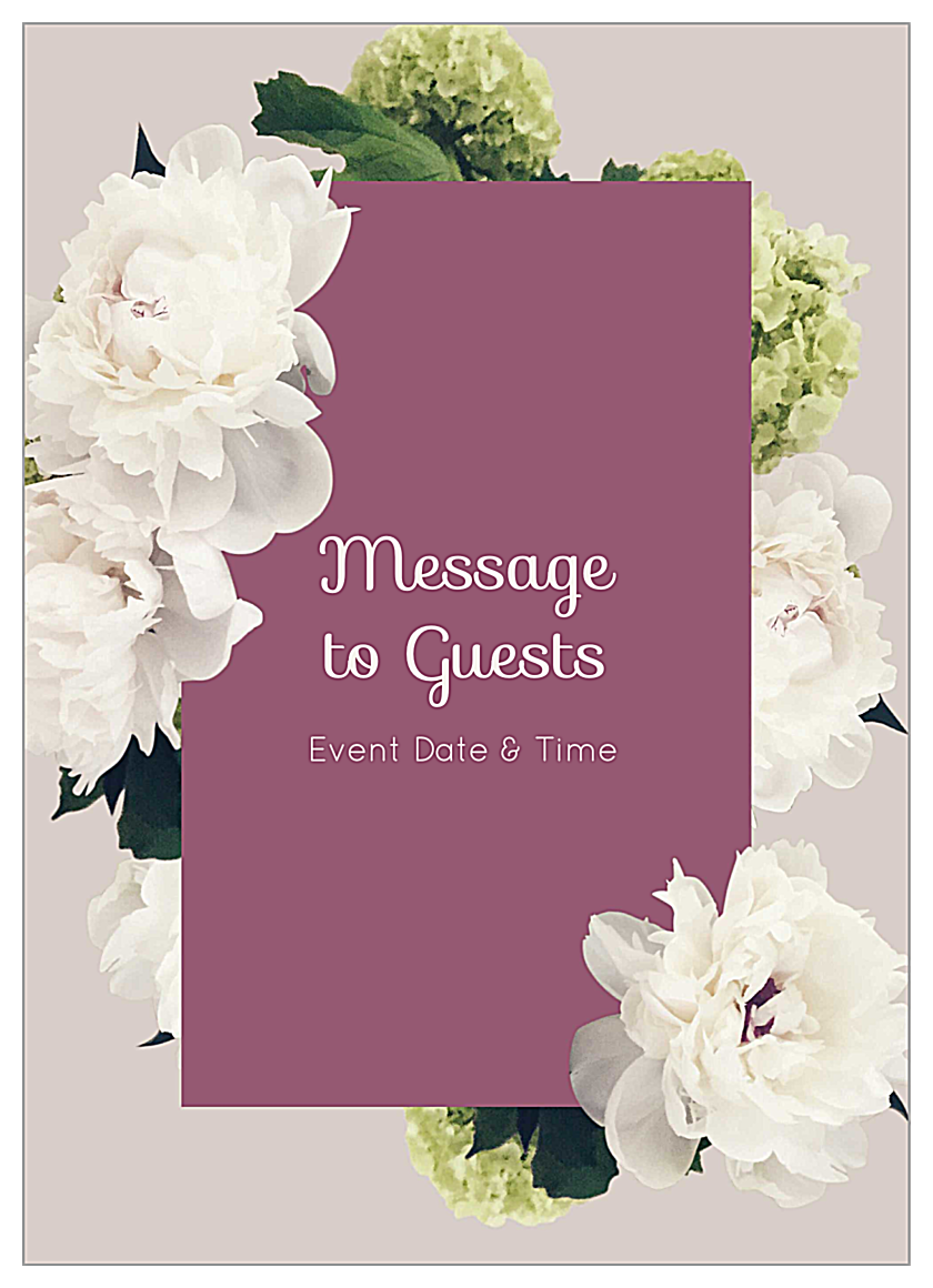Easy-To-Use White Flowers Invitation Card Design Templates