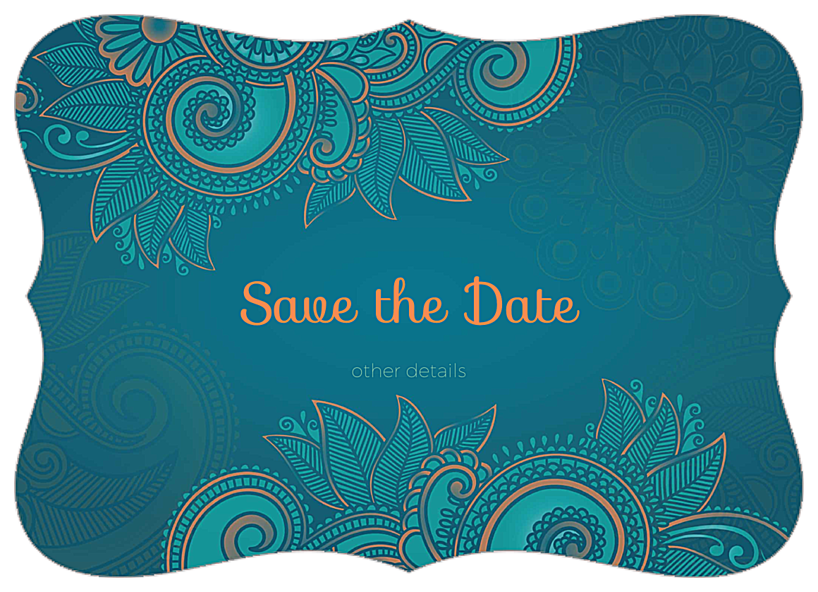 Easy-To-Use Save the Paisley Invitation Card Design Template front - Invitation Cards Maker
