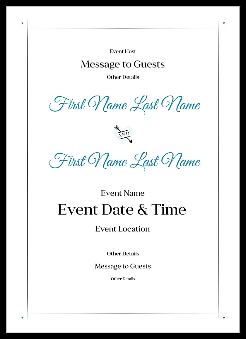 Easy-To-Use Bold Stripes Invitation Card Design Template