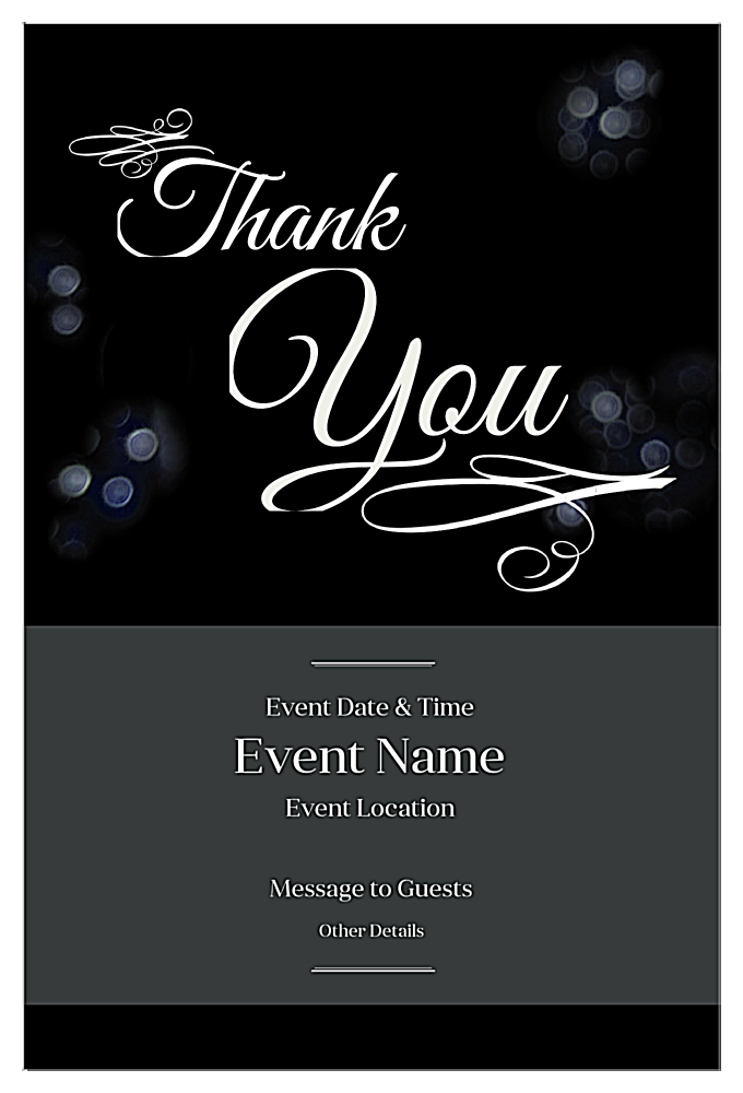 Eventful Thanks front - Invitation Cards Maker