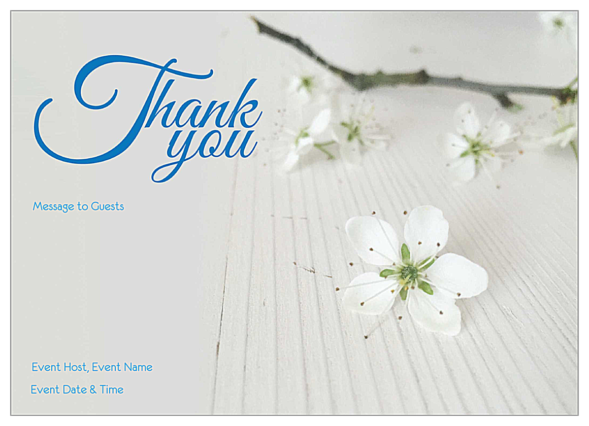 Blossom front - Invitation Cards Maker