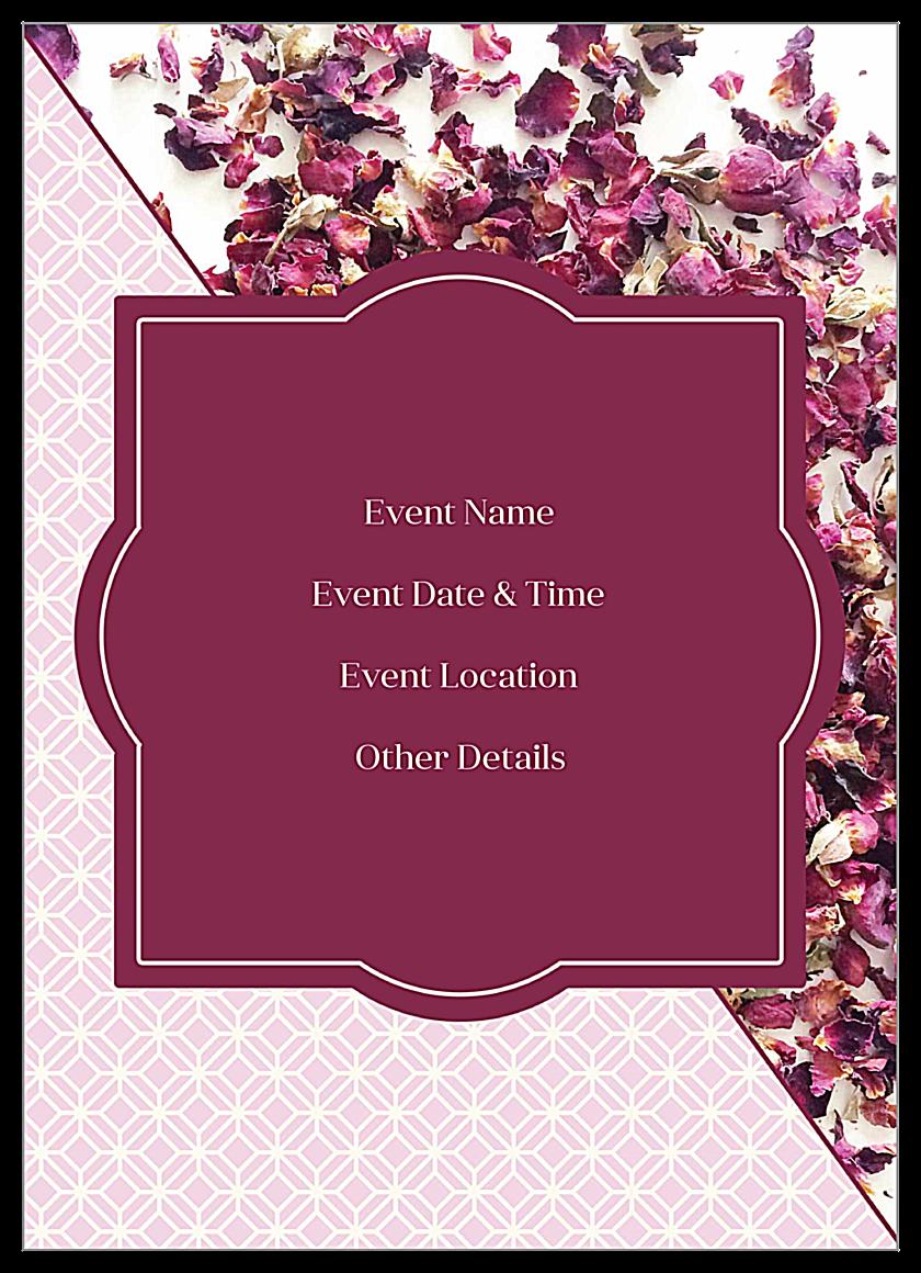 Rose Petals back - Invitation Cards Maker