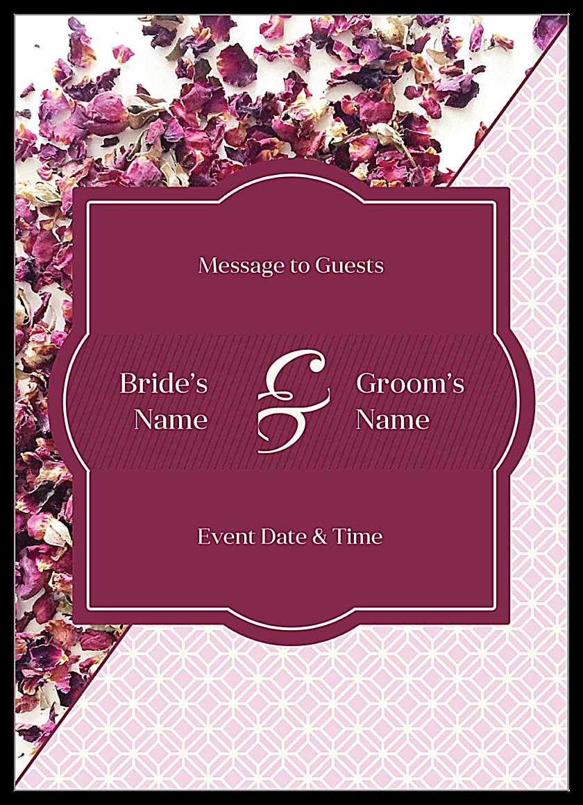 Rose Petals front - Invitation Cards Maker