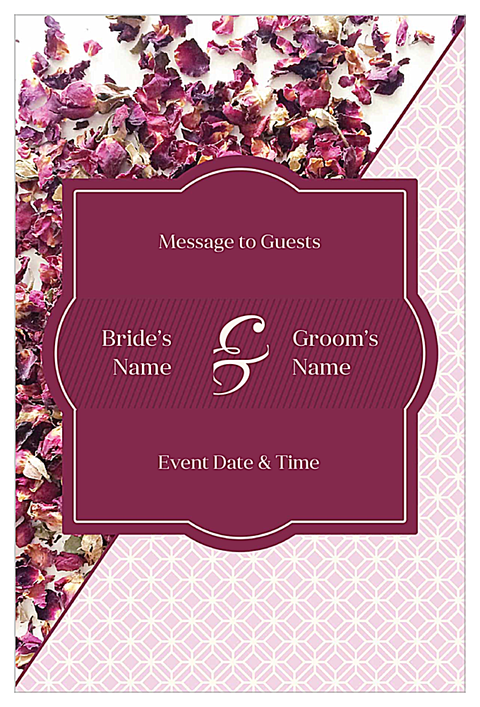 Rose Petals front - Invitation Cards Maker
