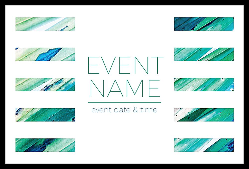Color Strips front - Invitation Cards Maker