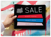 Sale Pop - invitation-cards Maker