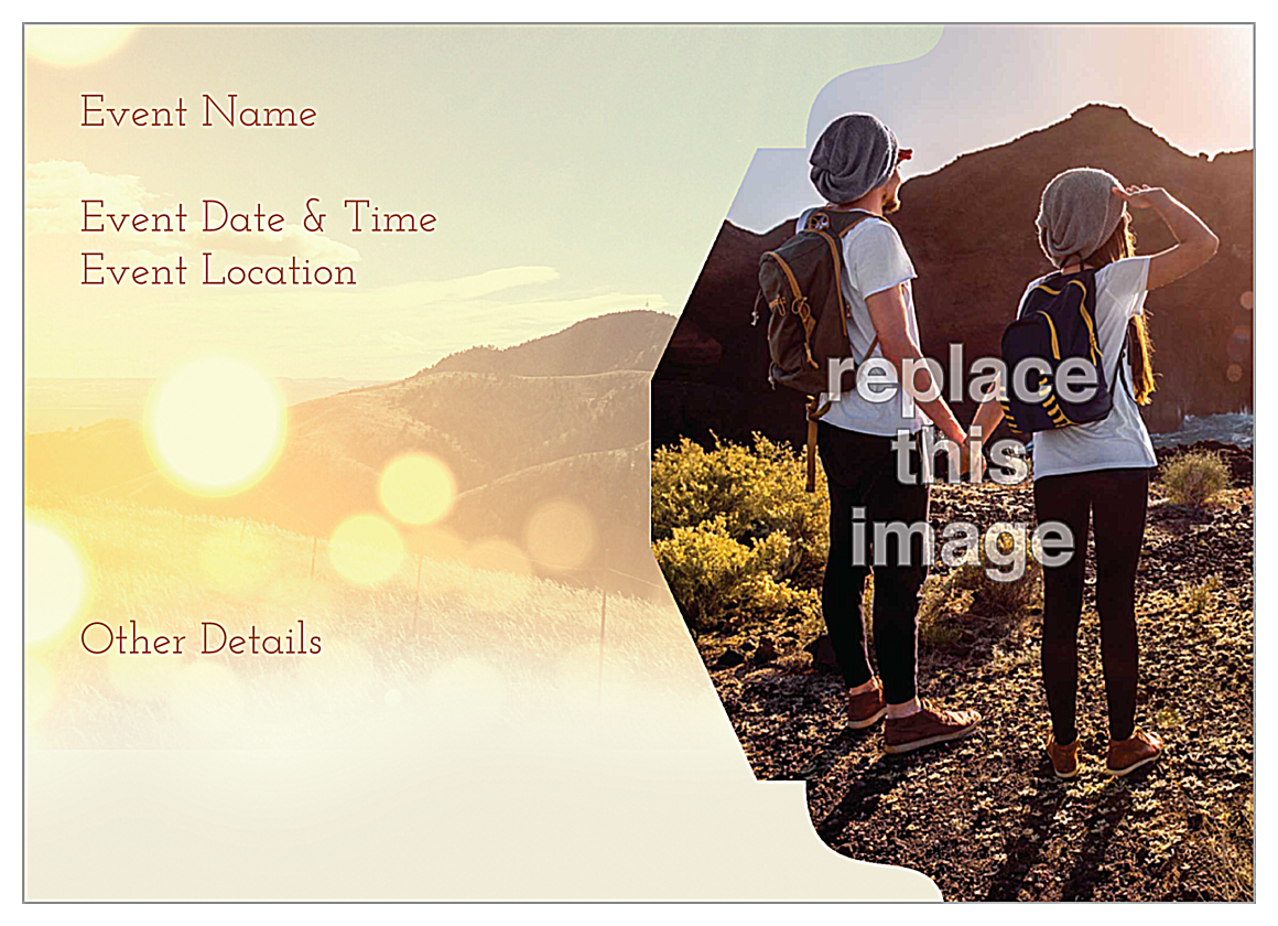 Free Mountains Customizable Invitation Card Design Template back - Invitation Cards Maker