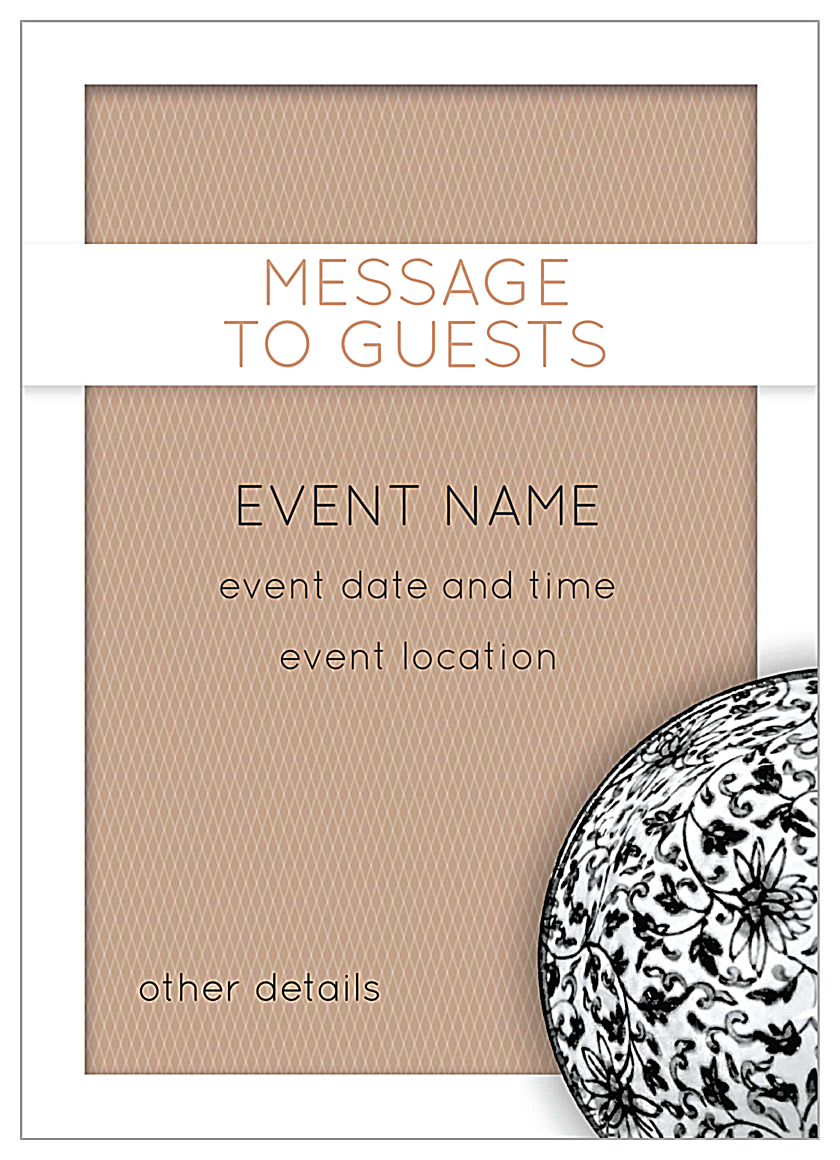 Easy-To-Personalize Elegant Weave Invitation Card Template back - Invitation Cards Maker