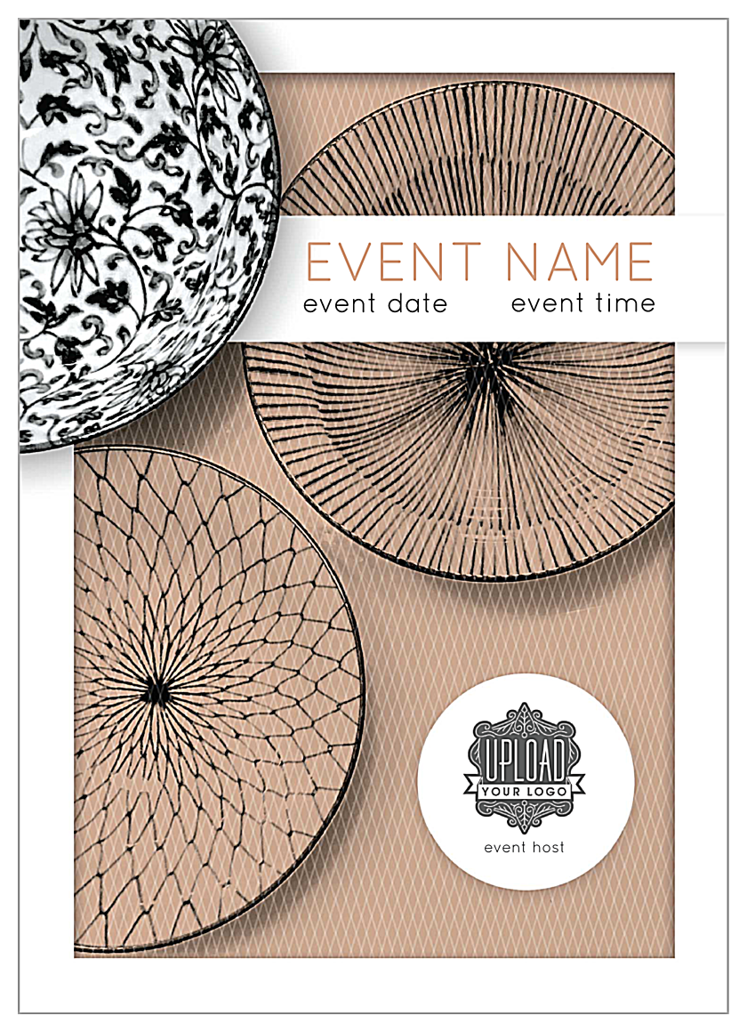 Easy-To-Personalize Elegant Weave Invitation Card Template front - Invitation Cards Maker